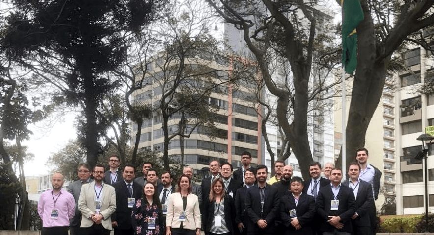 Grupo de representantes das empresas brasileiras participantes da Missão ao Peru.
